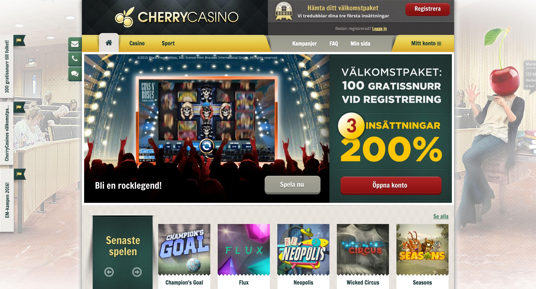 Cherry Casino Bonus & Freespins